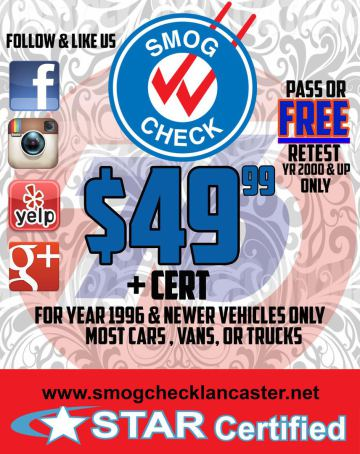 Smog Test Coupon
