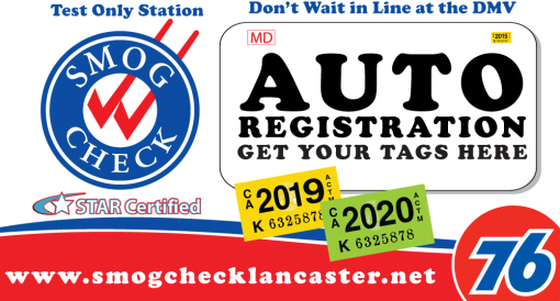 76 Star Smog Test Only | STAR Smog Check in Lancaster, CA