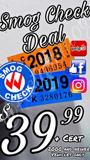 Cheap smog check coupons smog check discount